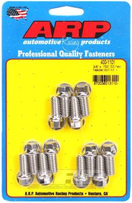 ARP - ARP 3/8 X .750 SS Hex Header Bolt Kit - 400-1101 - Image 1