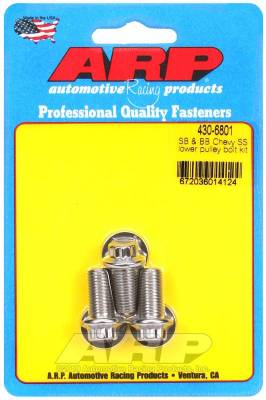 ARP - ARP Small Block & Big Block Chevy SS Lower Pulley Bolt Kit - 430-6801 - Image 1
