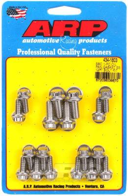 ARP - ARP Small Block Chevy 1-Pc SS 12Pt Oil Pan Gasket Bolt Kit - 434-1803 - Image 1