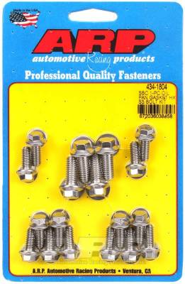 ARP - ARP Small Block Chevy 1-Pc SS Hex Oil Pan Gasket Bolt Kit - 434-1804 - Image 1