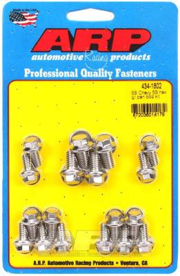 ARP - ARP Small Block Chevy SS Hex Oil Pan Bolt Kit - 434-1802 - Image 1