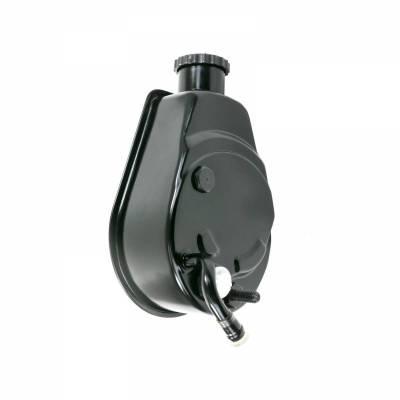 Top Street Performance - Power Steering Pump - GM Saginaw P Series, Black - JM2000BK - Image 1