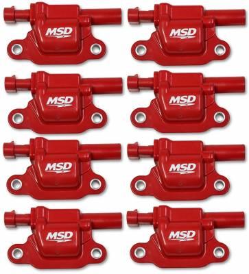MSD - Coils, Red, Square, '14 & up GM V8, 8-pk - 82668 - Image 1