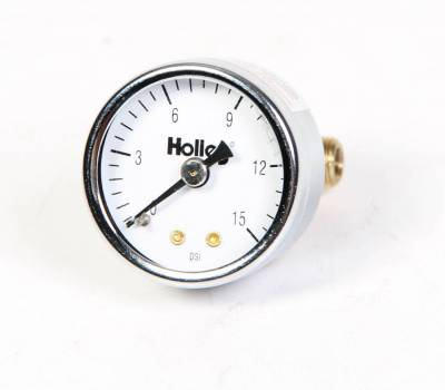 Holley - 0-15PSI FUEL PRESSURE GAUGE - 26-500