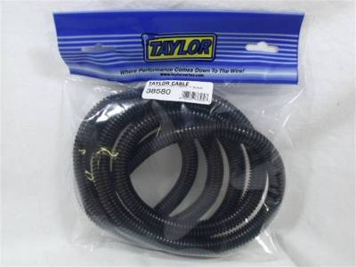 Wire, Cable and Related Components - Wire Conduit - Taylor Cable - 1/2in Convoluted Tubing 7ft black - 38580