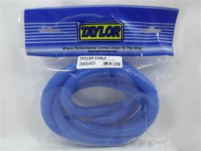 Wire, Cable and Related Components - Wire Conduit - Taylor Cable - 1/2in Convoluted Tubing 7ft blue - 38560
