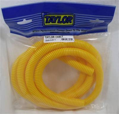 Wire, Cable and Related Components - Wire Conduit - Taylor Cable - 1/2in Convoluted Tubing 7ft yellow - 38581