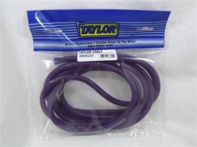 Wire, Cable and Related Components - Wire Conduit - Taylor Cable - 1/4in Convoluted Tubing 10ft purple - 38820