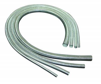 Wire, Cable and Related Components - Wire Conduit - Taylor Cable - 1/4in x 40in Chrome Convoluted Tubing - 39001