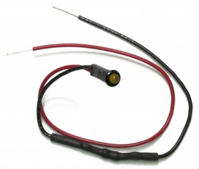 Lighting - Instrumentation - Dash Indicator Light Set - Painless Wiring - 1/8in. LED Dash Indicator Light/Amber - 80200