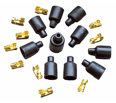 Ignition Wire and Related Components - Spark Plug Wire Connector - Taylor Cable - 180 Socket Dist Boot/Tml Kit - 46059