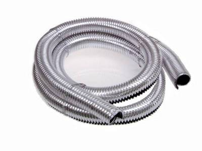 Wire, Cable and Related Components - Wire Conduit - Taylor Cable - 3/4in x 40in Chrome Convoluted Tubing - 39004