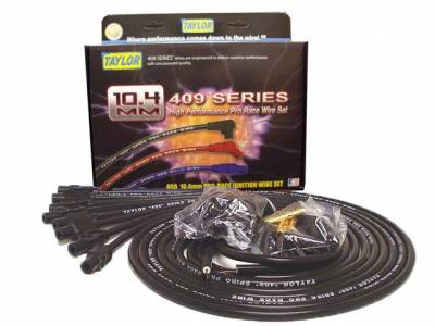 Ignition Wire and Related Components - Spark Plug Wire Set - Taylor Cable - 409 10.4 Spiro-Pro univ 8 cyl 180 black - 79055