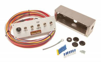 Switches - Multi Purpose Switch Panel Kit - Painless Wiring - 6-Switch Pro Street Panel - 50412