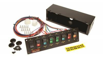 Switches - Multi Purpose Switch Panel Kit - Painless Wiring - 8-Switch Panel/Non-Fused/Roll Bar Mount (use w/50001) - 50202