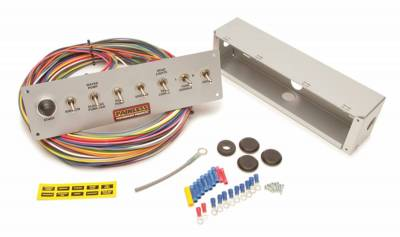 Switches - Multi Purpose Switch Panel Kit - Painless Wiring - 8-Switch Pro Street Panel - 50410