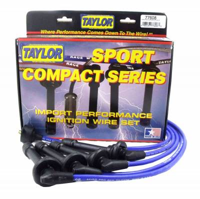 Ignition Wire and Related Components - Spark Plug Wire Set - Taylor Cable - 8mm Spiro-Pro custom 4 cyl blue - 77608
