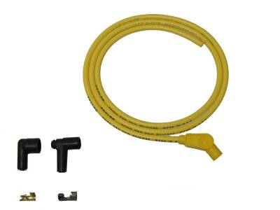 Ignition Wire and Related Components - Single Lead Spark Plug Wire - Taylor Cable - 8mm Spiro-Pro Repair Kit 135 yellow - 45441