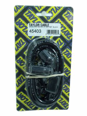 Ignition Wire and Related Components - Single Lead Spark Plug Wire - Taylor Cable - 8mm Spiro-Pro Repair Kit 90/180 black - 45403