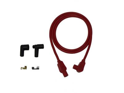 Ignition Wire and Related Components - Single Lead Spark Plug Wire - Taylor Cable - 8mm Spiro-Pro Repair Kit 90/180 red - 45423