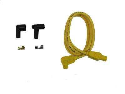 Ignition Wire and Related Components - Single Lead Spark Plug Wire - Taylor Cable - 8mm Spiro-Pro Repair Kit 90/180 yellow - 45443