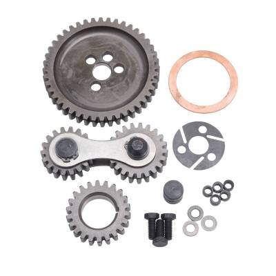 Valve Train Components - Engine Timing Camshaft Gear - Edelbrock - Accu-Drive Gear Drive Small-Block Chevy - 7890