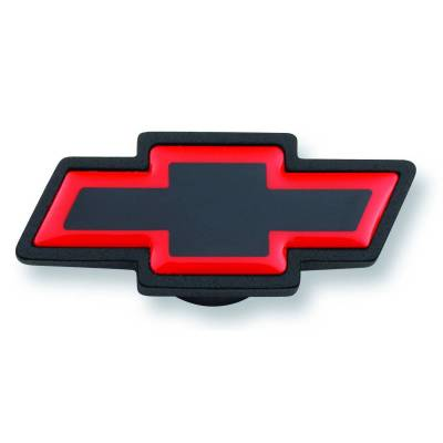 Proform - Air Cleaner Center Nut - Large Chevy Bowtie Style - Black Crinkle w/ Red Outline