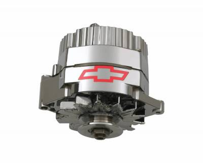 Alternator / Generator and Related Components - Alternator - Proform - Alternator - 100 AMP - GM 1 Wire Style - GM Bowtie Logo - Chrome Finish - 100% New
