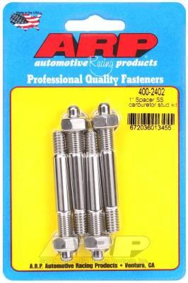 """Hardware - Engine Hardware Kit - ARP - ARP 1"""" Spacer SS Carburetor Stud Kit - 400-2402"""