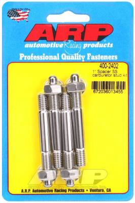 "ARP 1"" Spacer SS Carburetor Stud Kit - 400-2402"