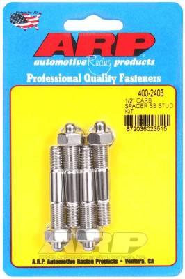 """Hardware - Engine Hardware Kit - ARP - ARP 1/2"""" Spacer SS Carburetor Stud Kit - 400-2403"""