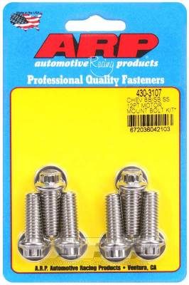 ARP - ARP Chevy 12Pt Motor Mount Bolt Kit With Energy Suspension Mounts - 430-3107