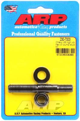 Flywheel - Clutch Flywheel Bolt - ARP - ARP Chevy V8 High Volume Hex Oil Pump Stud Kit - 230-7003