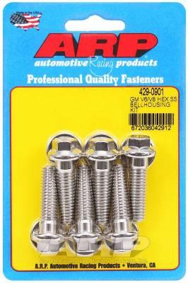 ARP - ARP Gm V6/V8 SS Hex Bellhousing Bolt Kit - 429-0901