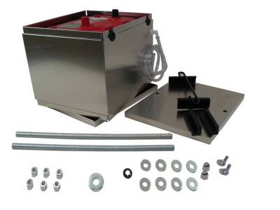 Battery and Related Components - Battery Box - Taylor Cable - Battery Box aluminum NHRA Optima battery - 48200