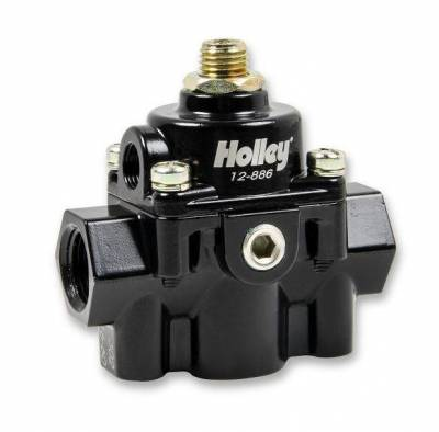 Fuel Injection System and Related Components - Fuel Injection Pressure Regulator - Holley - BP REG, 59.5 PSI (BLACK E-COAT) - 12-886