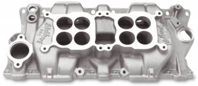 Cylinder Block Components - Engine Intake Manifold - Edelbrock - C-26 Small Block Chevy Dual-Quad Intake Manifold - 5425
