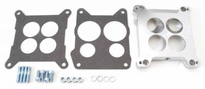 Carburetion - Carburetor Adapter Plate - Edelbrock - Carb Adapter for 4150 Square-Bore to Stock Quadrajet & Thermo-Quad Spread-Bore - 2696