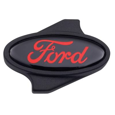 Carburetion - Air Cleaner Mounting Nut - Proform - Carburetor Air Cleaner Center Nut - Ford Oval Logo - 1/4 -20 Thread - Black/Red