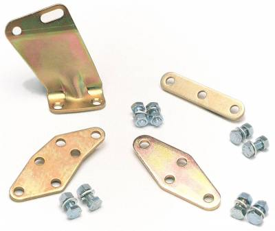 Edelbrock - Carburetor Throttle Cable Adapter Plate for S/B Ford 289-302 in Gold Finish - 1490