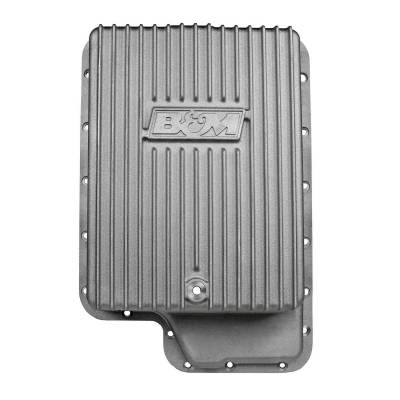 Transmission Hard Parts - Automatic Transmission Oil Pan - B&M - CAST PAN DEEP W/TORQ SHIFT&6.0PS DI - 40295