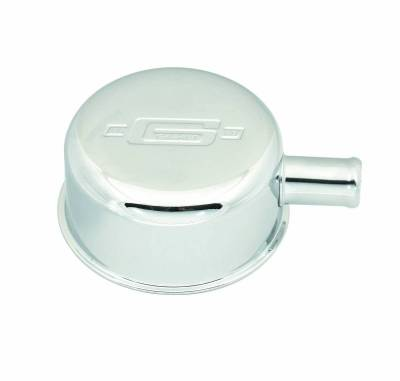 Mr Gasket - CHRM BREATHER W/PCV FITTING - 2054