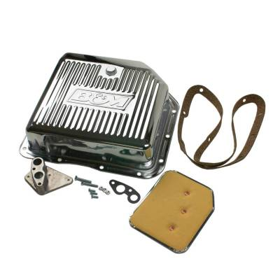 Transmission Hard Parts - Automatic Transmission Oil Pan - B&M - CHROME DEEP PAN TH-350 - 30289