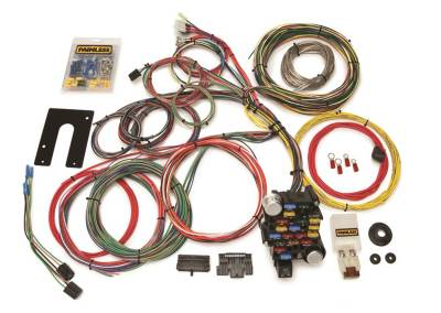Painless Wiring - Classic-Plus Customizable Chassis Harness-GM Keyed Column-28 Circuits - 10201