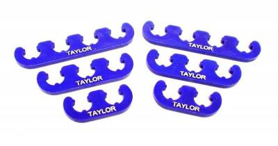 Ignition Wire and Related Components - Spark Plug Wire Holder - Taylor Cable - Clip-On Separators 7-8mm Blue - 42860