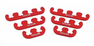 Ignition Wire and Related Components - Spark Plug Wire Holder - Taylor Cable - Clip-On Separators 7-8mm Red - 42820