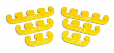 Ignition Wire and Related Components - Spark Plug Wire Holder - Taylor Cable - Clip-On Separators 7-8mm Yellow - 42840