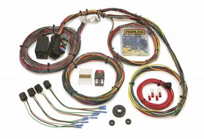 Frame - Chassis Wiring Harness - Painless Wiring - Customizable Mopar Color Coded Chassis Harness-21 Circuits - 10127