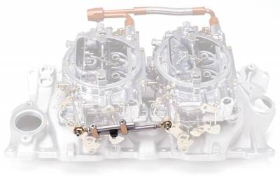 Carburetion - Carburetor Accelerator Linkage Kit - Edelbrock - Dual-Quad Progressive Throttle Linkage Kit - 7094