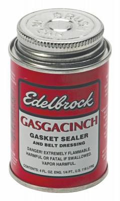 Functional Fluid, Lubricant, Grease (including Additives) - Engine Sealant - Edelbrock - Edelbrock Gasgacinch Gasket Sealer (4.0 oz.) - 9300
